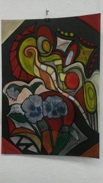 Bunt, Fantasie, Blumen, Abstrakt