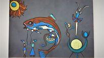 Abstrakt, Figur, Fisch, Fantasie