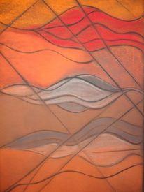Malerei, Sand, Dünen, Wüste