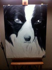 Ölmalerei, Malerei, Hund