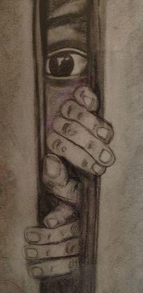 Hände, Zeichnung, Augen, Bleistiftzeichnung