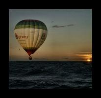 Ballon, Wasser, Sonnenuntergang, Meer