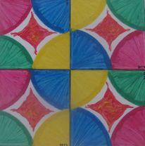 Kreis, Farben, Formen, Aquarell