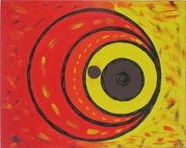 Augen, Kreis, Herfolgung, Malerei