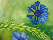 Kornblumen, Malerei,