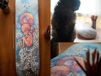Blumen, Skateboard, Lila, Embry