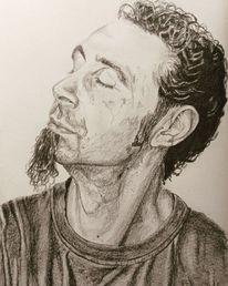 Portrait, Serj tankian, Bleistiftzeichnung, Zeichnungen