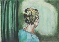 Portrait, Skizzenbuch, Pastellmalerei, Zeichnungen