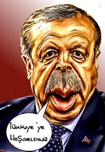 Erdogan, Karikatur, Gimp, Türkei