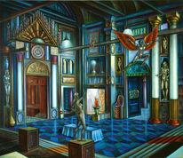Phantastische malerei, Phantastischer realismus, Lasurtechnik, Magischer realismus