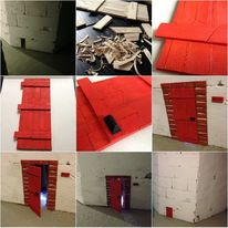 Tür, Holz, Zwerg, Streetart