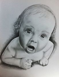Baby portrait gezeichnet, Zeichnungen, Portrait, Baby