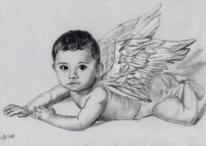 Engel, Flügel, Zeichnung, Baby