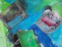 Abstrakt, Bunt, Geometrie, Malerei