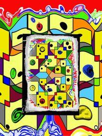 Geometrie, Gesellschaft, Collage, Digitale kunst
