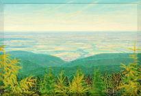 Lichtmalerei, Wald, Raum, Spektralfarbe