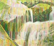 Flusslandschaft, Harz, Wasserfälle, Sonne