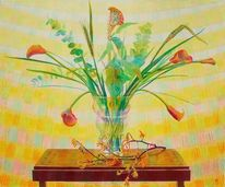 Gegenständlich, Stillleben, Blumen, Vase