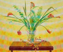 Naturmalerei, Stillleben, Spektralfarbe, Blumen