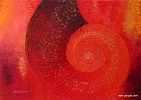 Muschel, Rot, Abstrakt, Digitale kunst