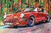 Porsche, 911, Oldtimer, Malerei