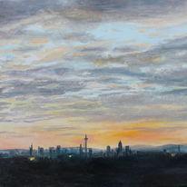Wolken, Skyline frankfurt, Malerei, Ausblick