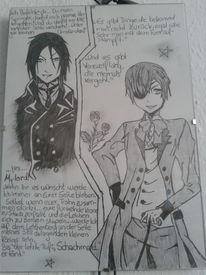 Black butler, Manga, Zeichnungen