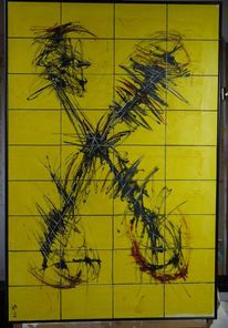 Holzkacheln, 2013, Abstrakt, Tanz