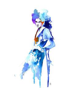Portrait, Aquarellmalerei, Figural, Frau