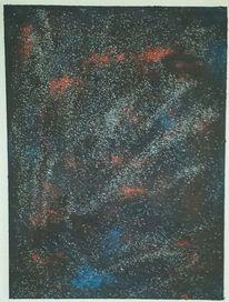 Abstrakt, Blau, Rot schwarz, Universum