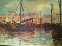 Ölmalerei, Landschaft, Gemälde, Malerei