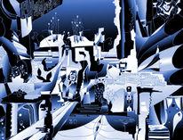 Figur, Tunnel, Abstrakt, Verschiedene dimensionen