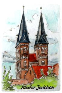 Baukunst, Zeichnung, Kloster jerichow, Farben
