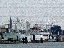 Stahlplatte, Fine art foto, Hamburg, Cap san diego
