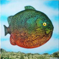 Fisch, Tiere, Surreal, Malerei