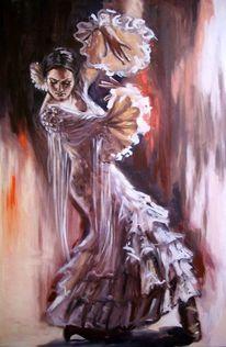 Frau, Ölmalerei, Figural, Malerei