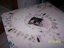 Malen, Tisch decoupage, Kunsthandwerk