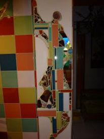 Mosaik bad schrank, Kunsthandwerk, Bad