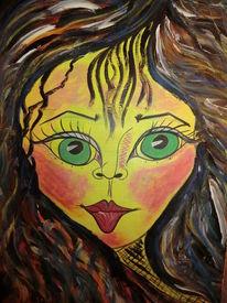 Traumwelt, Besinnlichkeit, Mädel, Malerei