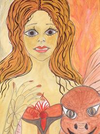 Träumereien, Traumwelt, Weiblichkeit, Malerei