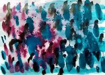 Malerei, Serie von wegen, Tuschmalerei, Serie