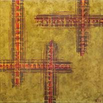Abstrakt, Kopp, Acrylmalerei, Malerei