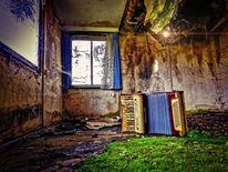 Bungalow, Moos, Musikinstrument, Fenster