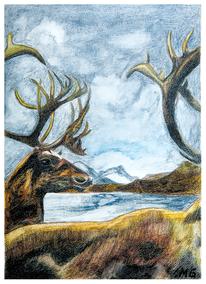 Figural, Aquarellmalerei, Surreal, Malerei