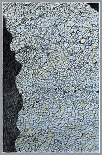 Topografie, Schwarz weiß, Gold, Silber