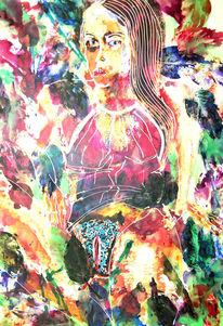 Dame, Ölmalerei, Oberfläche, Wunderschön