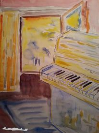 Religion, Aquarellmalerei, Musik, Surreal