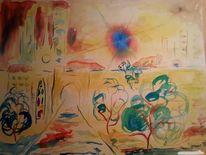 Licht, Aquarellmalerei, Surreal, Blau