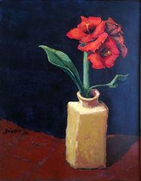 Betörend, Blumen, Rot, Vase