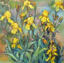 Garten, Blume, Gelb, Grün